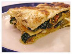 Lasagna vegetariana.