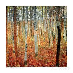 Forest-of-Beech-Trees-c-1903-Art-Print-By-Gustav-Klimt-20x20
