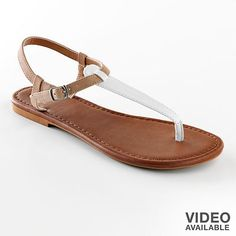 SO thong sandals at Khol's. Just got these and they are so comfy!
