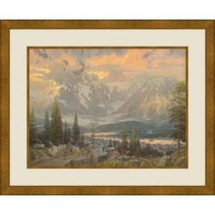 Great North, 20.5 inch x 18.5 inch Wall Art, Gold