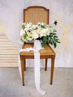 organic bouquet, photo by Lauren Kinsey http://ruffledblog.com/chaviano-couture-2015-collection #flowers #weddingbouquet