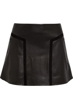 Rag & Bone Louise Flared Leather Mini Skirt in Black | Lyst for €795 at Net-A-Porter.