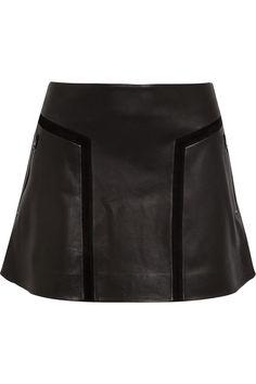 Rag & Bone Louise Flared Leather Mini Skirt in Black | Lyst for €795 at Net-A-Porter.