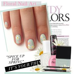"""Floral Nail Art"" by kusja on Polyvore"