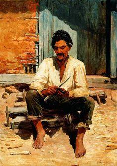 José Ferraz de Almeida Júnior (1850-1899) – Caipira picando fumo, 1893 (Pinacoteca do Estado de São Paulo)