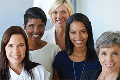 Women In Public Service from different backgrounds gather together in this bright photo