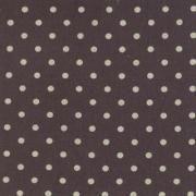 """Linen Mochi Dot (Charcoal) 70% cotton/30% linen, lightweight canvas, 44/45"""" wide"""