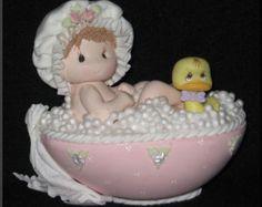 Decoraciones de la ducha del bebé del bebé chupete collar, 24 bebé ducha Favor, bebé ducha collar, juegos de ducha de bebé, azul bebé ducha favores de la ducha, Mini chupete collar con cintas de raso Listado para 24 collar chupete Chupete de aprox. 1