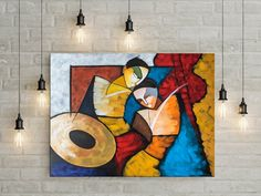 Indian contemporary art Acrylic painting by NiksPaintGallery