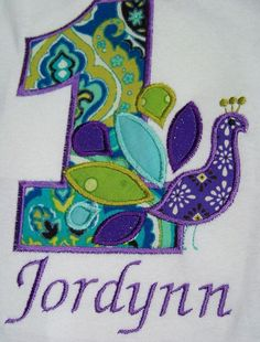 Peacock Birthday Shirt Princess Birthday