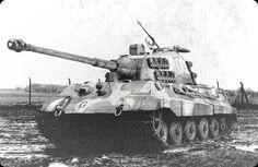 "Panzerkampfwagen VI ""Tiger II"" with antiaircraft MG 42 mounted on turret ring. #WorldWarII #Wehrmacht"