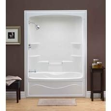 shower stall tub insert. One Piece Shower Insert  Liberty 60 Inch Acrylic Tub And Shower Whirlpool Left Hand Walk In Units Fiberglass With Tub