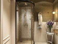 визуализация ванной комнаты Showroom, Oversized Mirror, Divider, Bathtub, Bathroom, Interior, Furniture, Home Decor, House