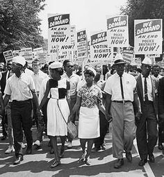 The campaign for civil rights in America led to many clashes and protests.  Read how this situation was experienced and eventually overcome