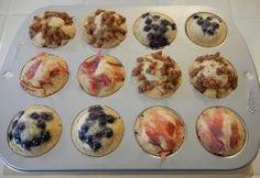Pancake bites. Mix 1/2 cup pancke mix, 1/3 cup milk and 1/4 cup syrup. Fill greased muffin tins 3/4 full, top with desired topping (fruit, sausage, bacon, or chocolate chips). Bake at 350 for 12-14 minutes.