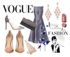 """""""Vogue"""" by danai-babali on Polyvore featuring Adrianna Papell, Anne Sisteron, Jimmy Choo, INDIE HAIR, Gianvito Rossi, Luxo, Chanel and Everest"""