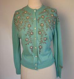 Love this Aqua 1940's cardigan