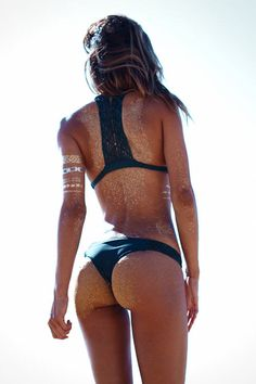 SANDY BEACH BUBBLE BUTT of exotic #Fitness model : if you LOVE Health, Workouts & #Inspirational Body Goals - you'll LOVE the #Motivational designs at CageCult Fashion: http://cagecult.com/mma