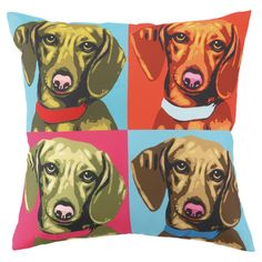 {Woofhol Dachshunds Pillow} totally cute!
