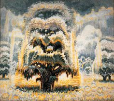 Charles Burchfield  Summer Solstice (In memory of the American Chestnut Tree)  1961-66