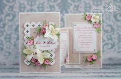 Card: Folded wedding card