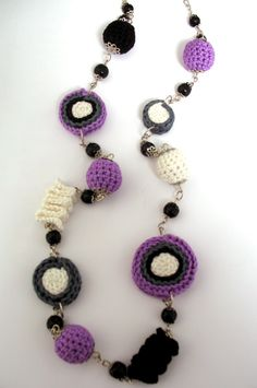 Impression crocheted necklace by DreamList on Etsy, $45.00