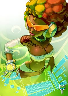 Dark Skin Anime Characters and Other Goodies Black Love Art, Black Girl Art, Sexy Black Art, Black Girl Cartoon, Black Art Pictures, Futuristic Art, African Artists, Black Artwork, Afro Art