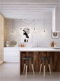 Awesome Scandinavian Kitchen Interior Idea 78