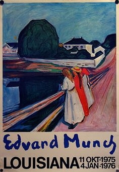 Edward Munch exhibition poster at Louisiana