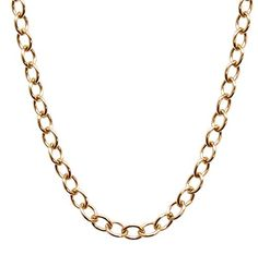 "NEW! 14K Solid Yellow Gold 1.2 millimeter Cable Chain 18"" length >>> Click image to review more details."