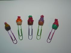 Polymer Clay, paper clip, cupcake, fimo
