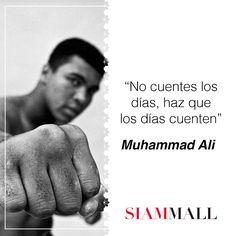 """Les dejamos una frase perfecta para el domingo: """"No cuentes los días, haz que los días cuenten"""" Muhammad Ali. #Frase #CCSiamMall   Here is the perfect sunday quote: """"Don't count the days, make the days count"""" Muhammad Ali. #Quote #CCSiamMall"""
