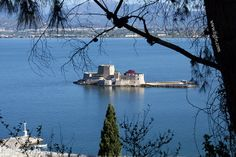 #Bourtzi fortress in #Nafplio from the hotel built within the walls of #Akronafplia Castle.