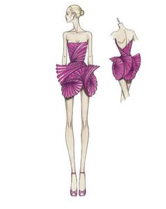 Some Donatella Versace Sketches for Atelier Versace  Fall Winter 2008 - 2009 :)