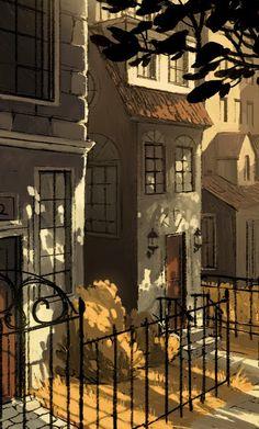 tranquila calle de ciudad by Amanda Winterstein
