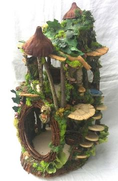 Fairy House, handmade by Forest Whimsy. Come by Artistic Portland to get one and…