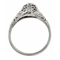 Art Deco Engagement Ring, Old European Estate Engagement Ring, Filigree Engagement Ring, Antique Engagement Rings, Antique Rings, Antique Jewelry, Pearl And Diamond Necklace, Diamond Drop Earrings, Vintage Art Deco Rings, European Cut Diamonds