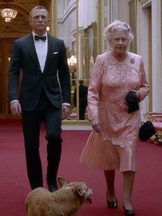 James Bond (Daniel Craig) & Queen Elizabeth II, (Olympic Games Opening Ceremony, London 2012)