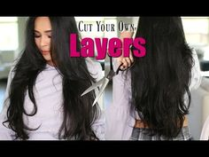 How I Cut My Own Hair In Long Layers & Face Frame - MissLizHeart - YouTube