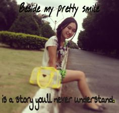 Wearing a fake smile is just not to show the inside out, but it's a hurt moment ever with no one's attention.