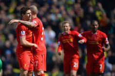 Steven Gerrard - Norwich City v Liverpool - Premier League