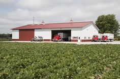 Morton Buildings farm storage facility in Bay City, Michigan.