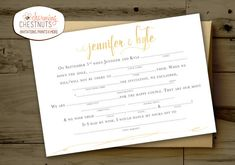 Madlib RSVP Postcard, White and Gold, wedding madlib, funny wedding, madlib, printable postcard, RSVP postcard, Gold wedding, Mad lib RSVP