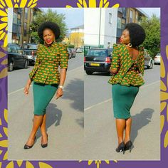 Green Ankara Blouse  African Clothing African Fashion