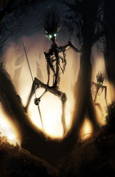 Sentinels of the Old Woods by ~likaspapaya on deviantART