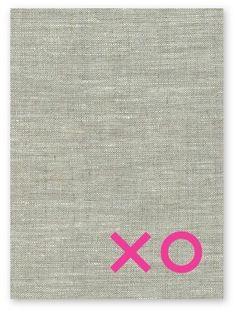 elly oak | linen tea towel. xo