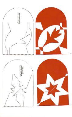 Kirigami, Danish Christmas, Scandinavian Christmas, Christmas Hearts, Christmas Paper, Paper Snowflake Designs, Paper Snowflakes, Origami Templates, Box Templates