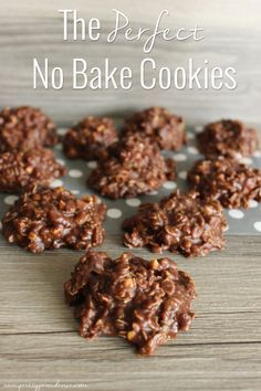 Look no further, these are the absolute perfect no bake cookies! So easy and so delicious!