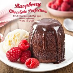 We think this is berry, berry good. Add a dash of summer to your dessert by placing fresh raspberries on top of, beside or under your still-warm chocolate mug cake together with a scoop of your favourite ice cream. How would you jazz up your mug cake? Be sure to hashtag #OwnYourSweetTooth