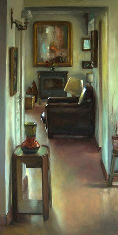 Jean-Christophe Gondouin, le miroir, huile sur toile.